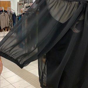lori & jane Shirts & Tops - Girls black, sheer shirt.